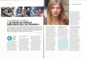 Clémence Poésy W4 Positive Book spread