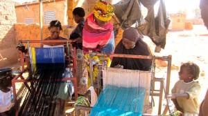 Women weaving