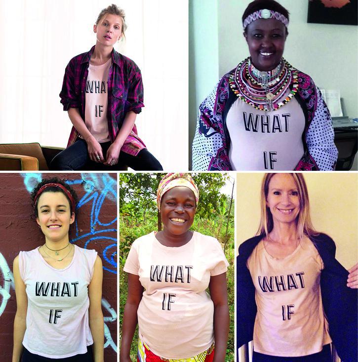 W4 #WhatIf T-Shirt Patchwork Empowering Women
