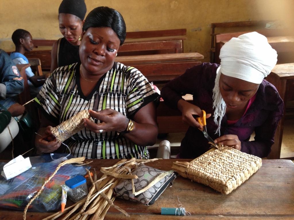 MitiMeth Artisans Weaving Baskets