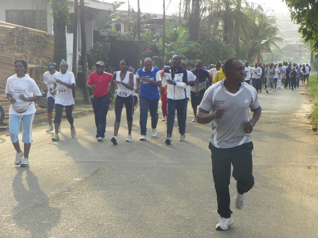 La course de Run For A Cure Africa