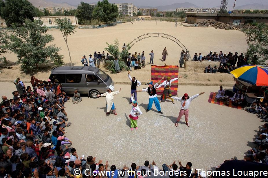 Clowns performing in Afghanistan