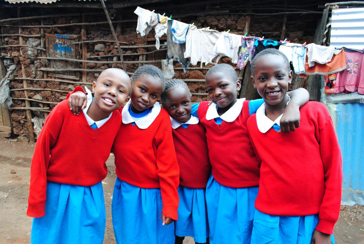 Girls at Shining Hope for Communities' Kibera School for Girls