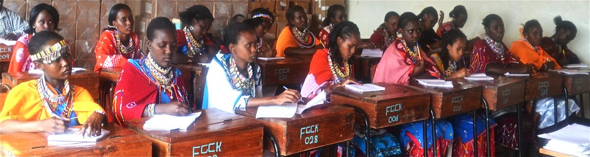 Young Maasai women attend school