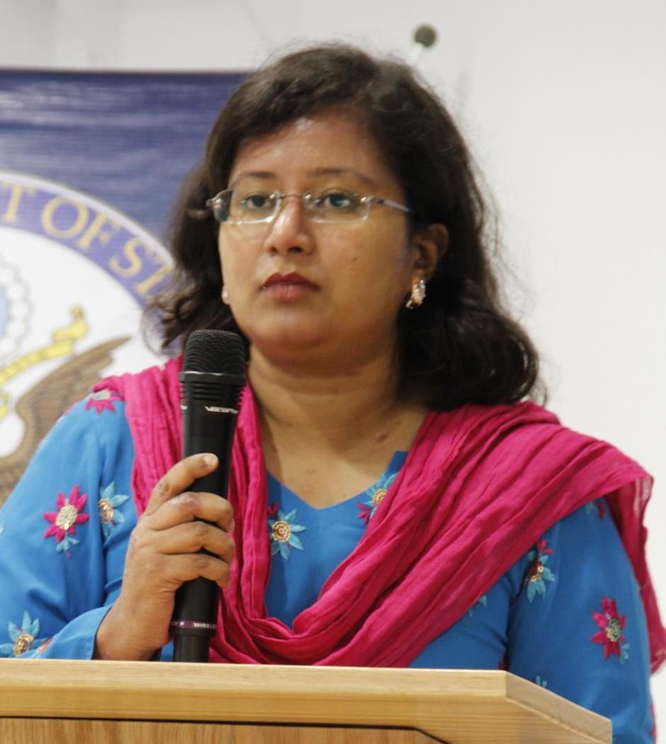 Tithe Farhana, Communications Coordinator for Plan Bangladesh and Co-Manager of Bangladeshi Women's Voice