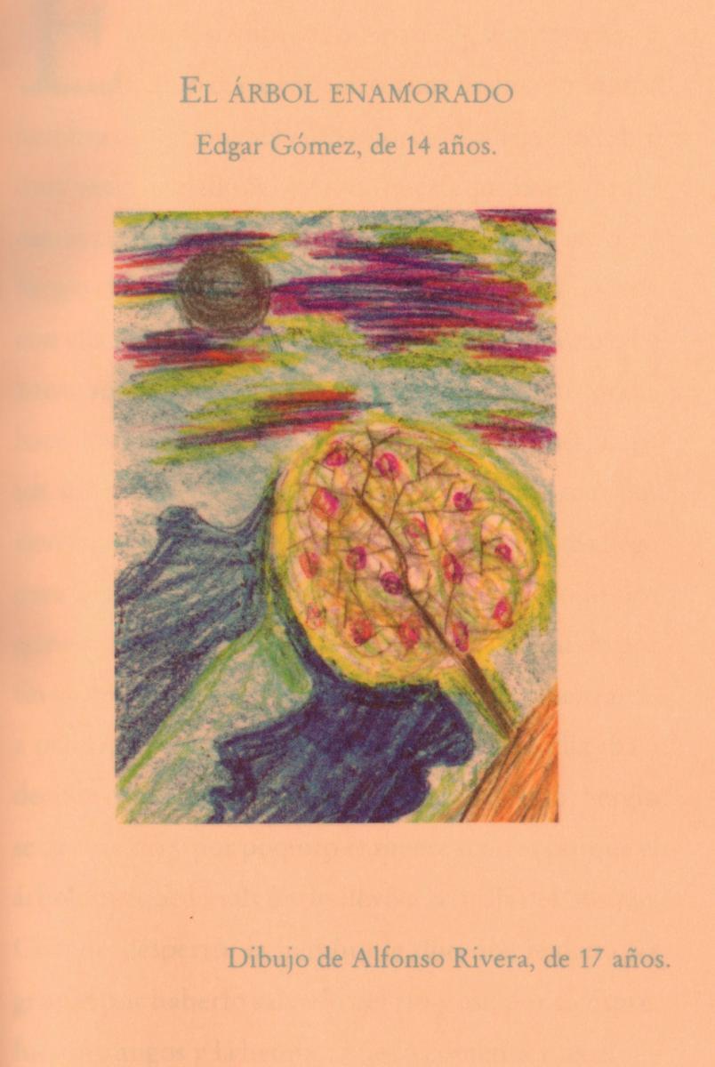 """The tree in love"" drawn by a child at Casa Alianza"