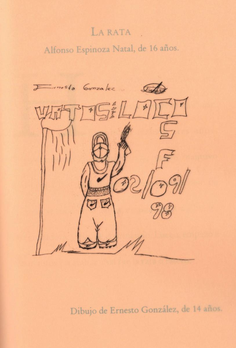 """The rat, the thief"" drawn by a child at Casa Alianza"