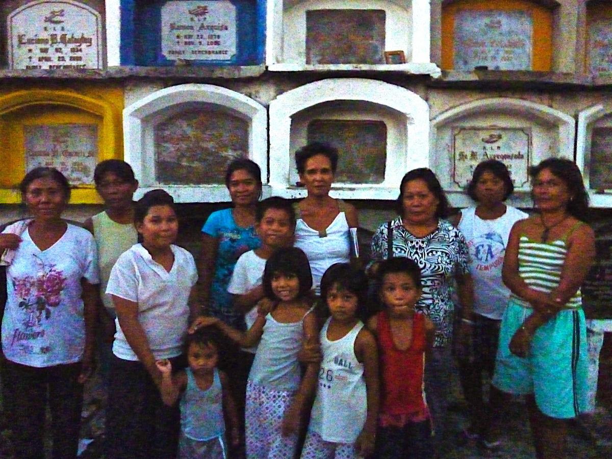 mothers from Cebu's cemetary slums