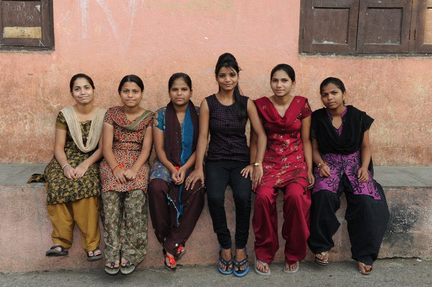 Girls from the communities who support Equal Community Foundation's programs