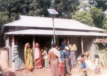 Un système de maison solaire eu Bangladesh